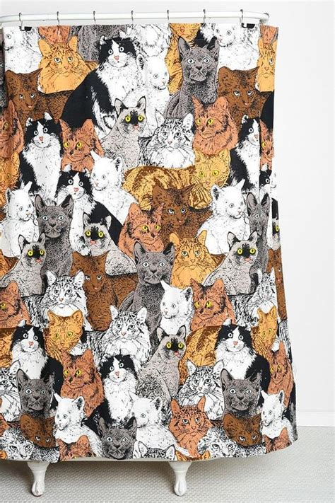 cat curtains catz shower curtain urban outfitters home decor and cat