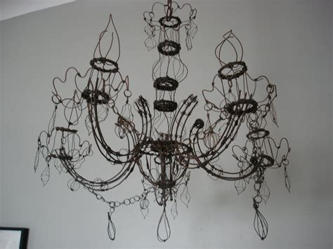 Diy Wire Chandelier Barbed Wire Chandelier On Barbed Wire Chandeliers And Chandeliers