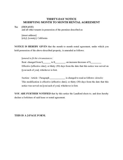 day notice letter template rental form rent increase nz final but