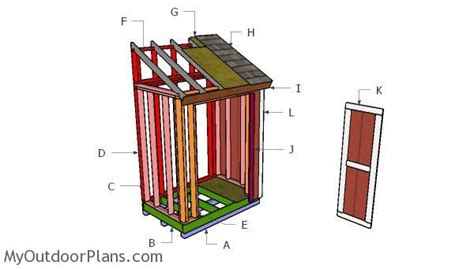 4x6 Shed Plans by 4x6 Shed Door Plans Myoutdoorplans Free