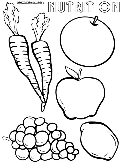 Nutrition coloring pages | Coloring pages to download and