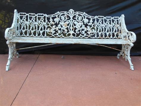 antique iron bench antique coalbrookdale garden bench in cast iron at 1stdibs
