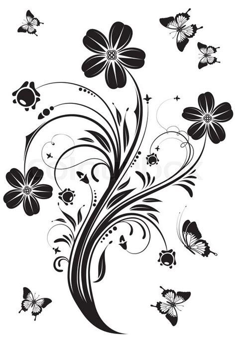 illustrator tutorial floral swirl ornaments butterfly floral ornament with butterfly element for design vector