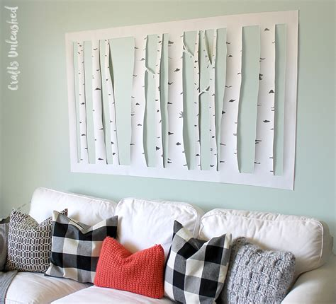 wall decor diy aspen tree consumer crafts