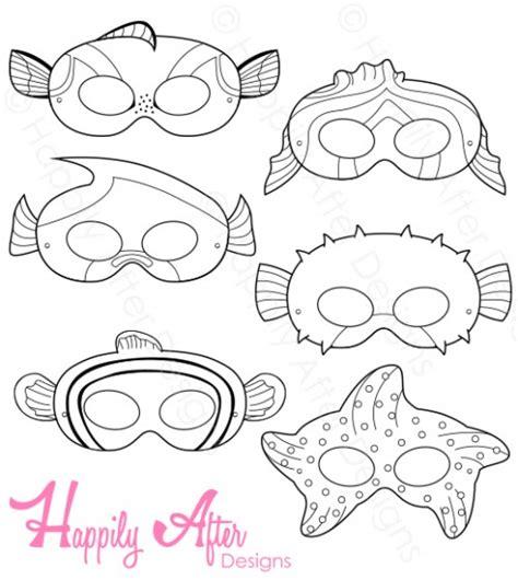 printable fish mask template fish printable coloring masks