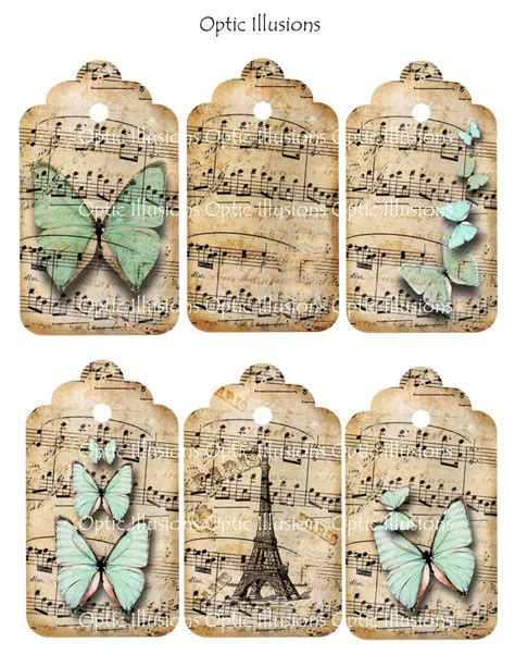 printable paper key tags instant download whimsical dancing butterflies gift tags