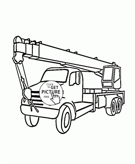 coloring pages bucket truck boom truck coloring page for kids transportation coloring