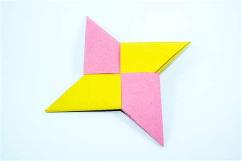 How To Make A Paper Shuriken Easy - paper easy crafts