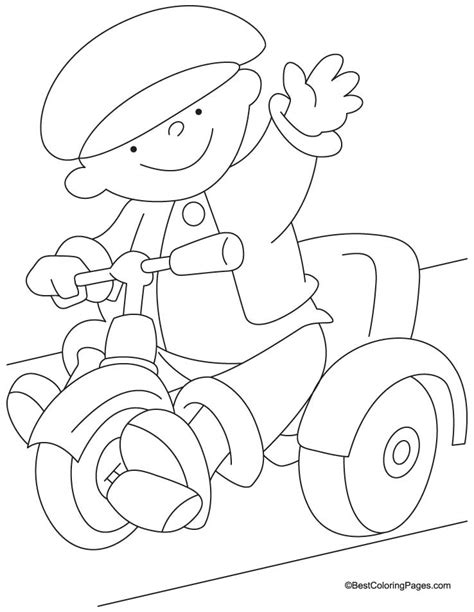 Tricycle Coloring Pages Preschool | tricycle coloring page 3 download free tricycle coloring