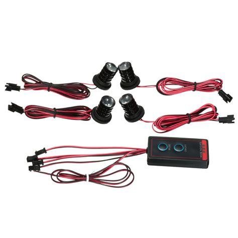 remote strobe light car wireless remote 4 led strobe hazard