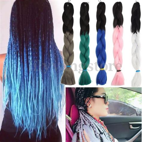 ombre synthetic braiding hair 24 quot ombre kanekalon jumbo braiding synthetic hair