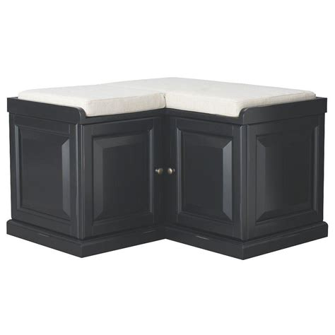 home decorators storage bench home decorators collection walker black storage bench 7400600210 the home depot
