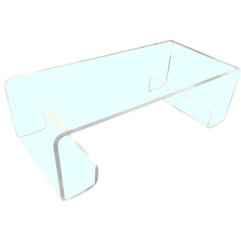 Lucite Waterfall Coffee Table Mcm Lucite Quot Waterfall Quot Coffee Table In The Manner Of Charles Hollis Jones At 1stdibs