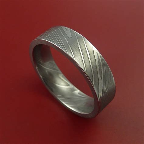 Steel Wedding Band by Damascus Steel Ring Wedding Band Genuine Craftsmanship Made