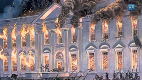 the burning of the white house catching up with the curator the white house fire of 1814 youtube