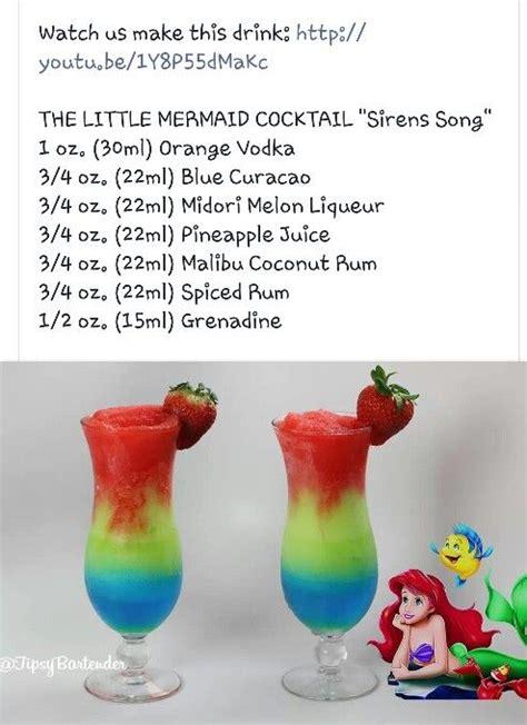 martini mermaid little mermaid cocktail recipes pinterest little