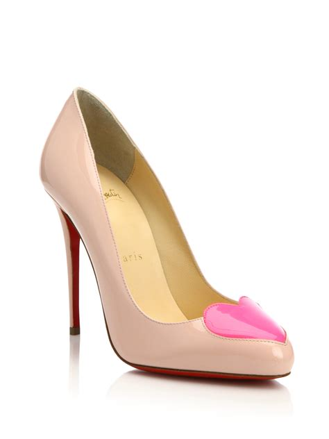 christian louboutin doracora patent leather pumps in