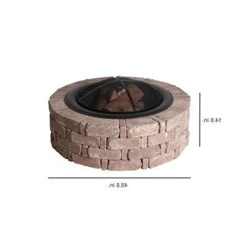 rumblestone pit insert stylish 35 in pit insert dx111494 the home