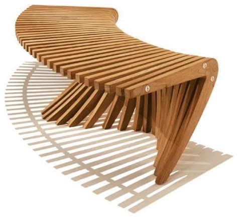 contemporary garden bench windsong curved backless bench