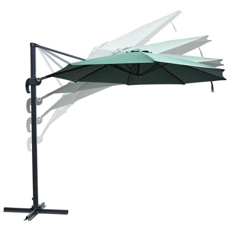 Offset Patio Umbrella Base 10 Deluxe Patio Hanging Roma Offset Umbrella Outdoor Cantilever Crank W Base Ebay