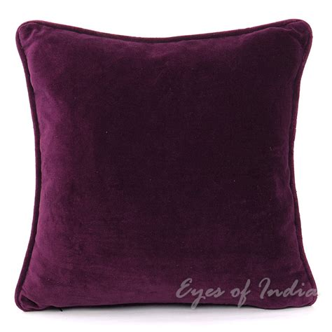 purple sofa pillows 20 quot purple velvet cotton pillow cushion cover throw