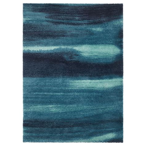 blue rugs s 214 nder 214 d rug high pile blue 170x240 cm ikea