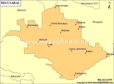 begusarai city map begusarai parliamentary constituency map election results