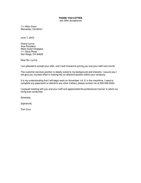 collection of solutions thank you letter to hiring manager after