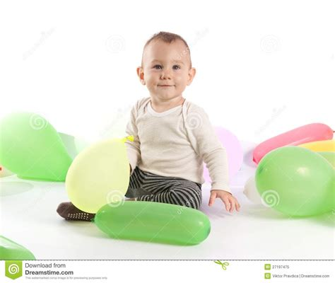 one year old baby boy portrait stock photo thinkstock one year old baby boy stock image image of play balloon