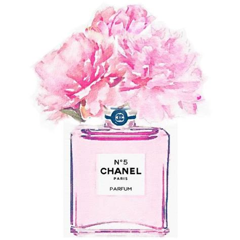 To Chanel Or Not To Chanel by Print Pink No 5 Perfume Bottle Vase Peonies Roses