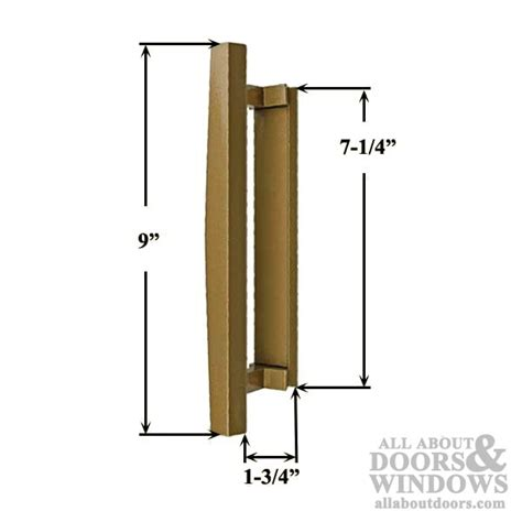 Pella Door Parts by Pella Sliding Door Handle Exterior Pull Bronze