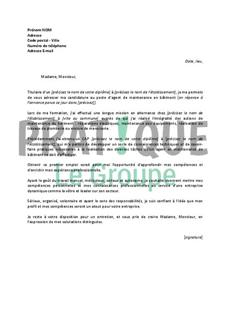 Lettre De Motivation De Peintre En Batiment Lettre De Motivation Batiment Le Dif En Questions