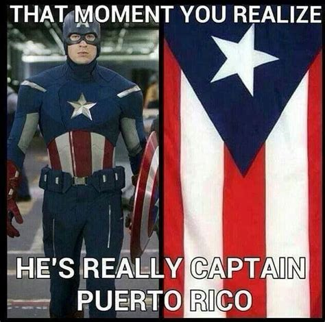 Puerto Rico Meme - captain america is really captain puerto rico lol