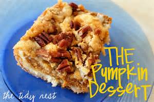 the tidy nest best pumpkin dessert
