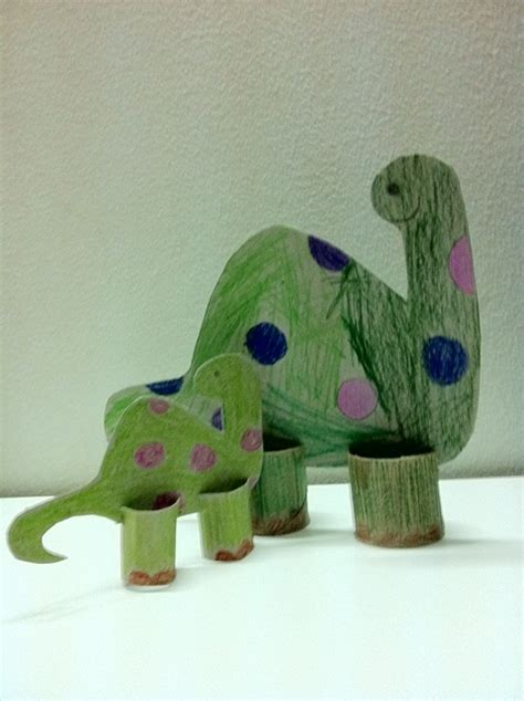 Dinosaur Paper Craft - jezebelleart toilet paper roll dinosaur craft