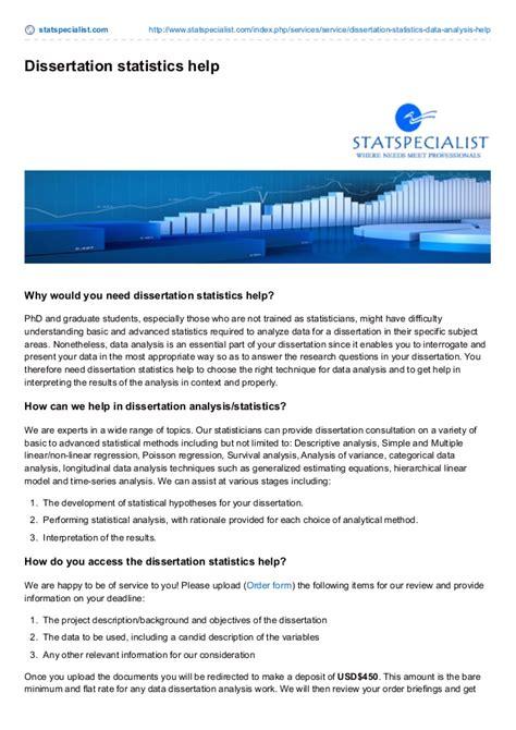 statistics help for dissertation statspecialist dissertation statistics help