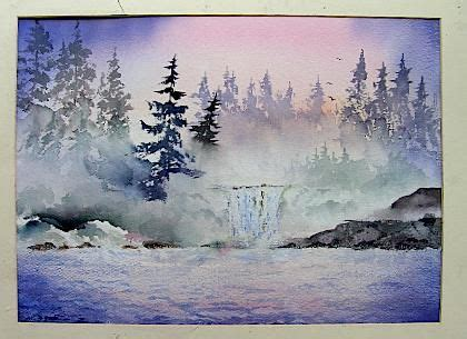 watercolor waterfall tutorial 138 best art tutorials watercolor images on pinterest