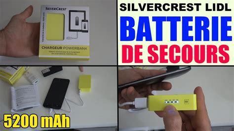 batterie externe silvercrest lidl chargeur powerbank