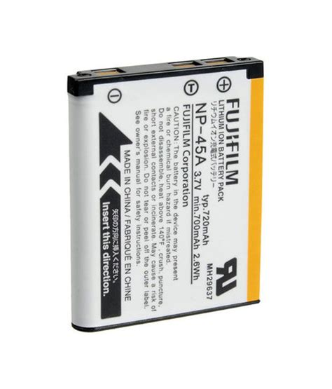 Battery Fujifilm Np 45a fujifilm np 45a battery price in india buy fujifilm