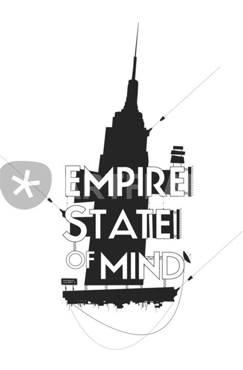 quot empire state of mind quot graphic illustration prints and