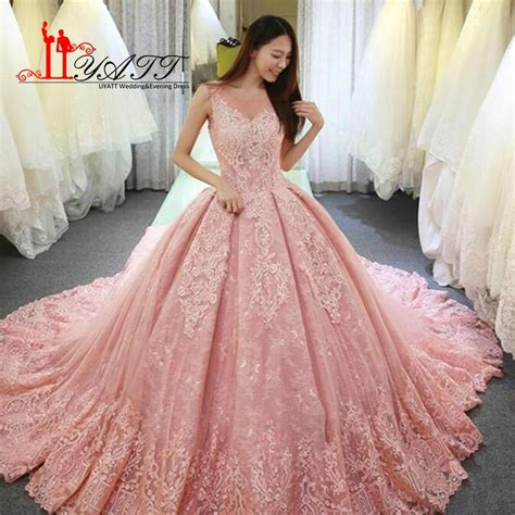 hochzeitskleid in rosa aliexpress buy 2018 new pink wedding dresses elegant