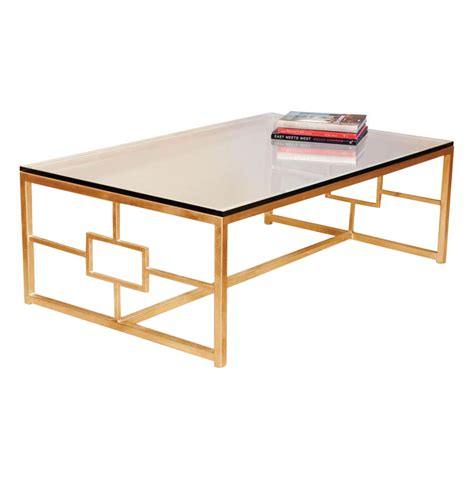 gold coffee table contemporary boutique style antique