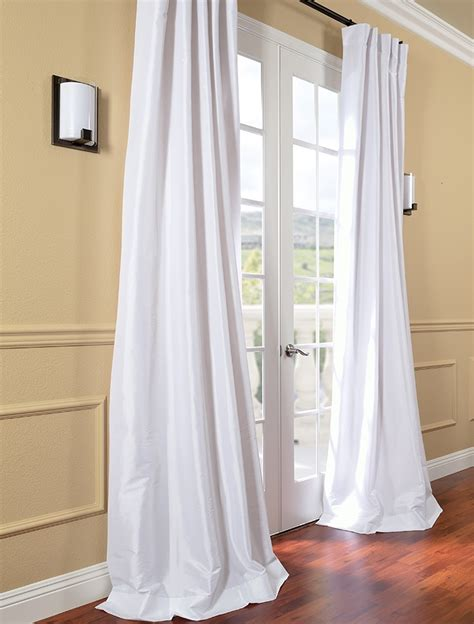 white silk drapes white faux silk taffeta curtain db moves to bk apt