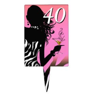 pink 40yeras old 40 years old cake toppers zazzle