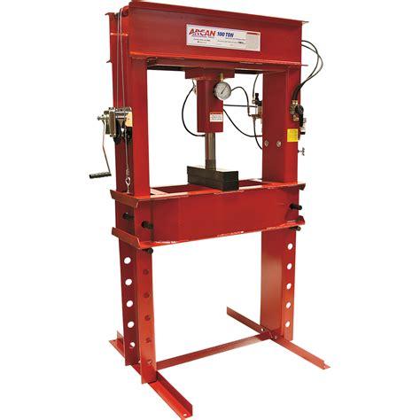 pneumatic shop press free shipping arcan 100 ton pneumatic shop press with
