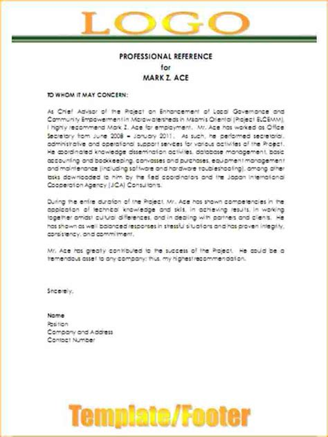 11 3 professional references exles basic appication letter