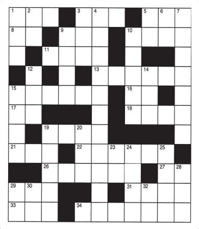 Crossword Puzzle Template Printable by Printable Puzzle 9 Free Pdf Documents Free