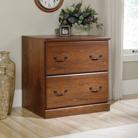 sauder orchard milled cherry lateral file cabinet