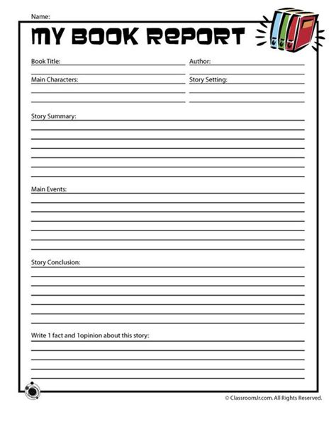 nonfiction book report template non fiction book report form printable