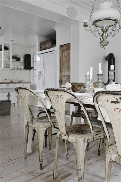 Dining Room Vintage Decor Dining Room White Grey Black Chippy Shabby Chic